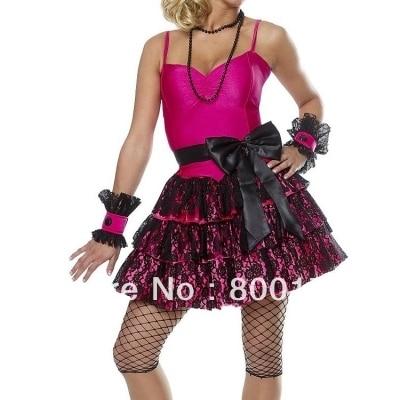 БЕСПЛАТНАЯ ДОСТАВКА 1950-х годов Пудель Юбка Красный Носок Хоп Жир 50-х годов костюм с ожерелье костюм хеллоуин костюм s-3xl