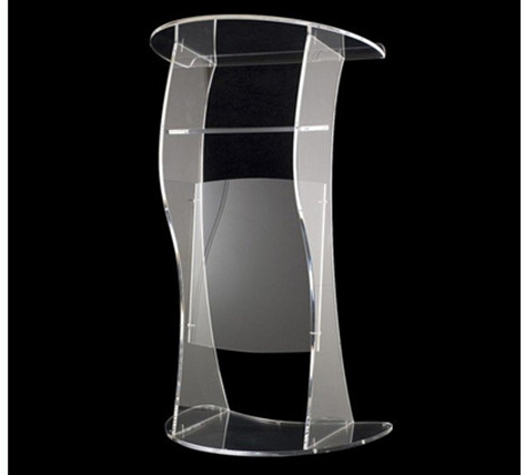 Hot Sell Pulpit Stand Acrylic Podium Acrylic Church Pulpit Church Desk Cheap Church Podium