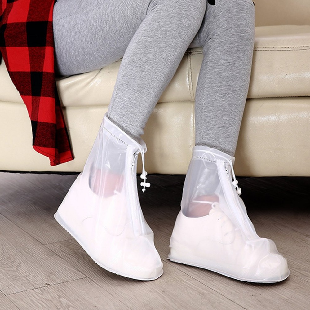 New Reusable Waterproof Rain Boots All Seasons Overshoes Shoe Covers Shoe Protector Transparent Women Men Rubber Rain Shoes 2015 tigergrip lightweight waterproof non slip shoe covers man hotel kitchen work shoes rubber overshoes for special work