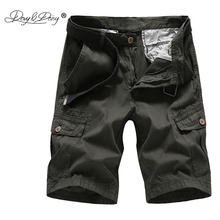 DAVYDAISY Men Cargo Shorts 2018 Brand New Hot Sale Men Cotton Loose Work Solid Casual Shorts bermuda masculina Plus Size DT-089