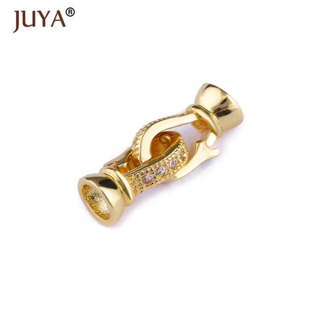 cac2ce00245a Accesorios de joyería componentes de cobre de alta calidad con  incrustaciones de piedra de circonita AAA