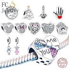 446d4c9ec890 Venta al por mayor de 30 piezas en forma Original de Pandora Charms pulsera  925 cuentas de plata accesorios joyería envío gratis.