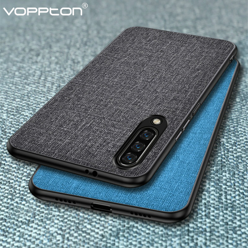 For VIVO V17 Neo S1 IQOO Y7S Z5 Phone Case Fabric Hard PC Silicone Frame Back Cover Simple Shockproof