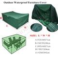 Impermeable Peva Cubrir Los Muebles De Patio Conjunto Mesa Sillas de Jardín Al Aire Libre 5 Tamaño UN Caliente