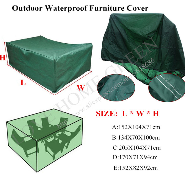Waterproof Outdoor Furniture Cover For Patio Set Table Garden Chairs