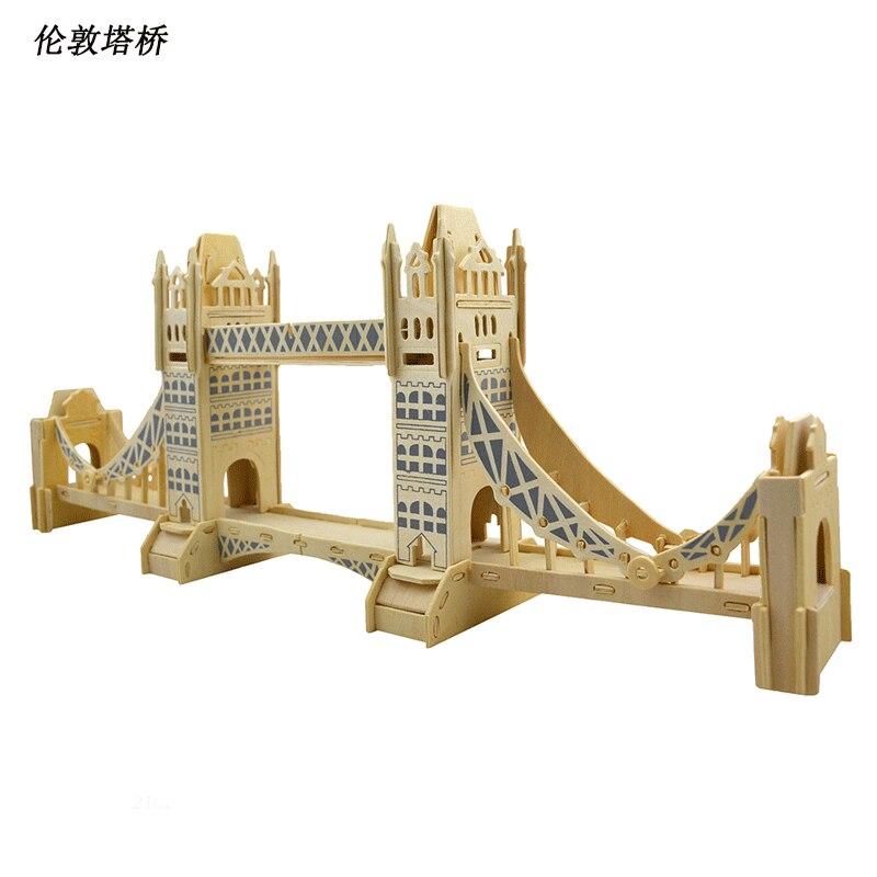 BOHS Wooden London Tower Bridge Model 3D Puzzle DIY ...