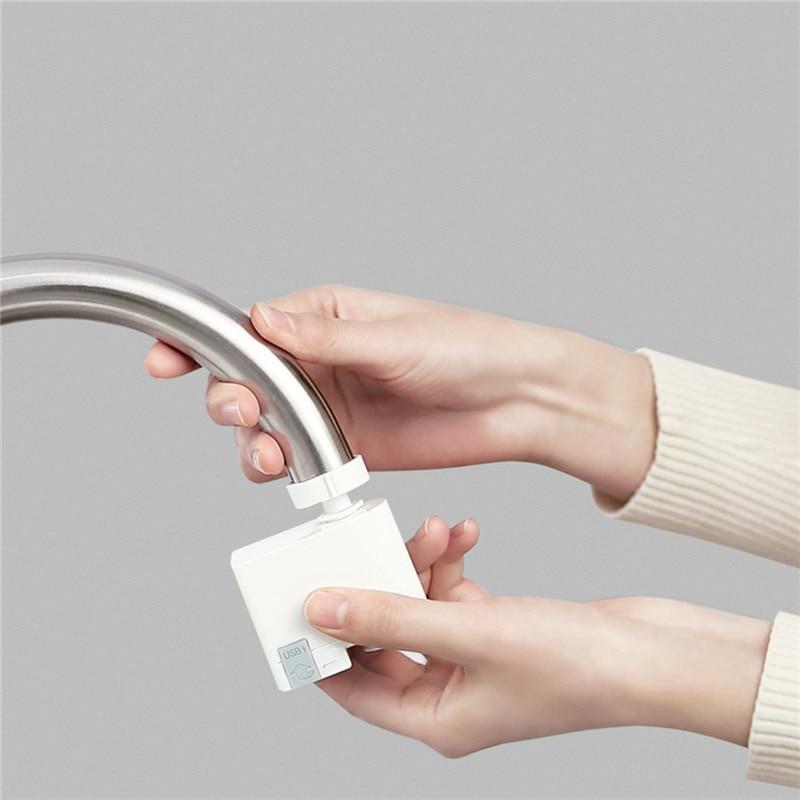 Image 2 - ZAJIA versión internacional Detección automática inducción infrarroja Dispositivo de ahorro de agua para la cocina baño fregadero grifoAccesorios de grifo de cocina   -