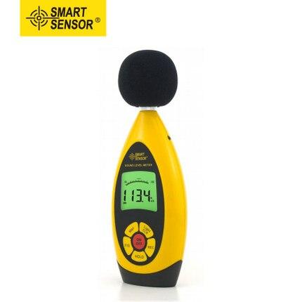 AR854 Handheld Digital Noise Sound Level Meter Store 10000 Readings USB Tester Range 30dB-130dB Accuracy +/- 1.5db Smart Sensor