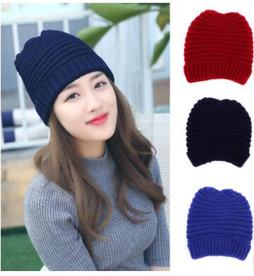 Hot Fold Flanging Snowboard Skiing Skating Warm Knitted Cap Beanies Snap Slouch Skullies Bonnet Beanie Hat