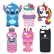 Luxury Case For Xiaomi Mi 5X A1 Soft Cover Cartton Silicon Cute Unicorn Rabbit Stitch Cat Capa Phone Cases