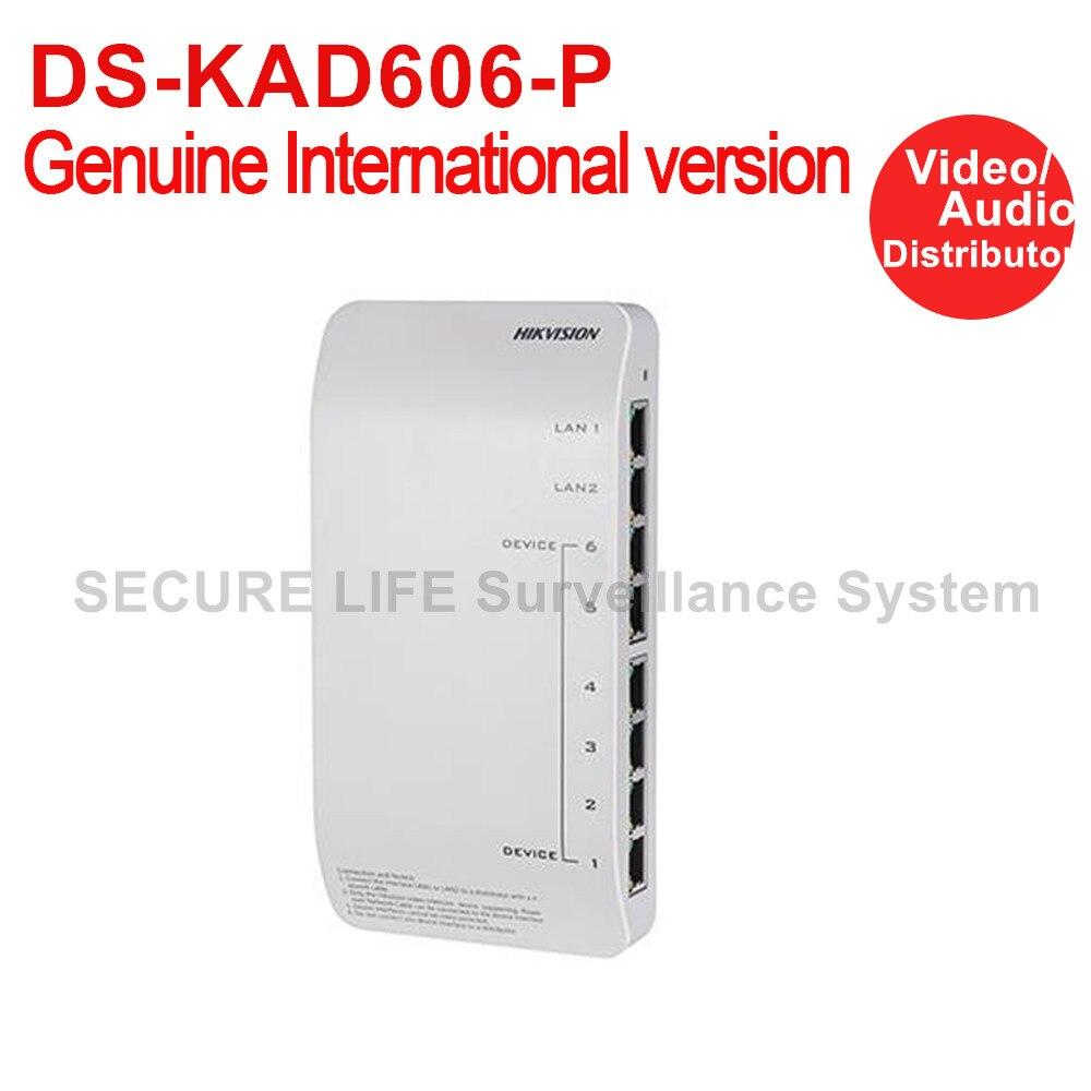 цена DS-KAD606-P Hikvision Video/Audio Distributor for vedio intercom 24V DC Power Adapter included онлайн в 2017 году