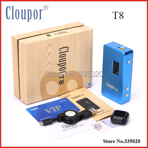 все цены на  Original Cloupor T8 Mech MOD 150w 18650 Box Mod Variable Voltage Electronic Cigarette Mod Kit  онлайн
