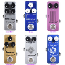 цена на Moskyaudio Mini Guitar Effect Pedal  Overdrive, Compressor,distortion, Chorus, delay ,Reverb Pledals