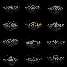 Vintage CZ Diamond Tiara Bridal Hair Accessories Wedding Rhinestone  Crowns Pageant Bride Jewelry crown girl tiarasE5200-5212