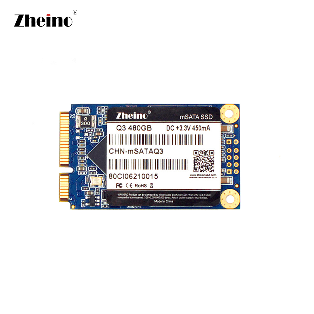 Zheino mSATA 480GB SSD Q3 Hard Disk Dirve 3D TLC NAND Flash Memory Internal Solid State Disk Drive For PC LAPTOP SERVER DESKTOP zheino 3d sata3 512gb ssd hard dirve high speed 3d tlc nand flash internal solid state disk drive for pc laptop macbook server