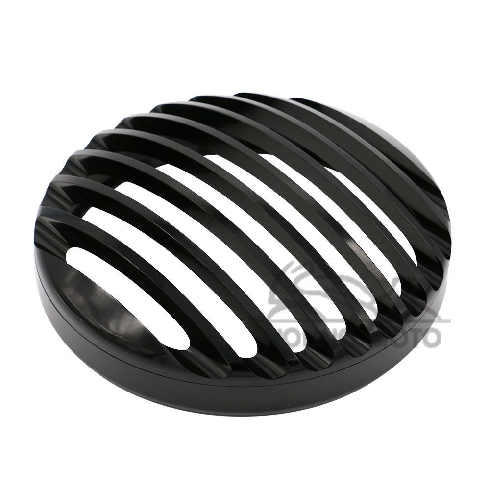 Black Round CNC Aluminum Headlight Grill Cover Guard for Harley Davidson Motorcycle Sportster XL 883 1200 2004-2014 black motor lower front spoiler chin fairing cover with logo for harley davidson sportster 1200 883 xl 2004 2015 p111