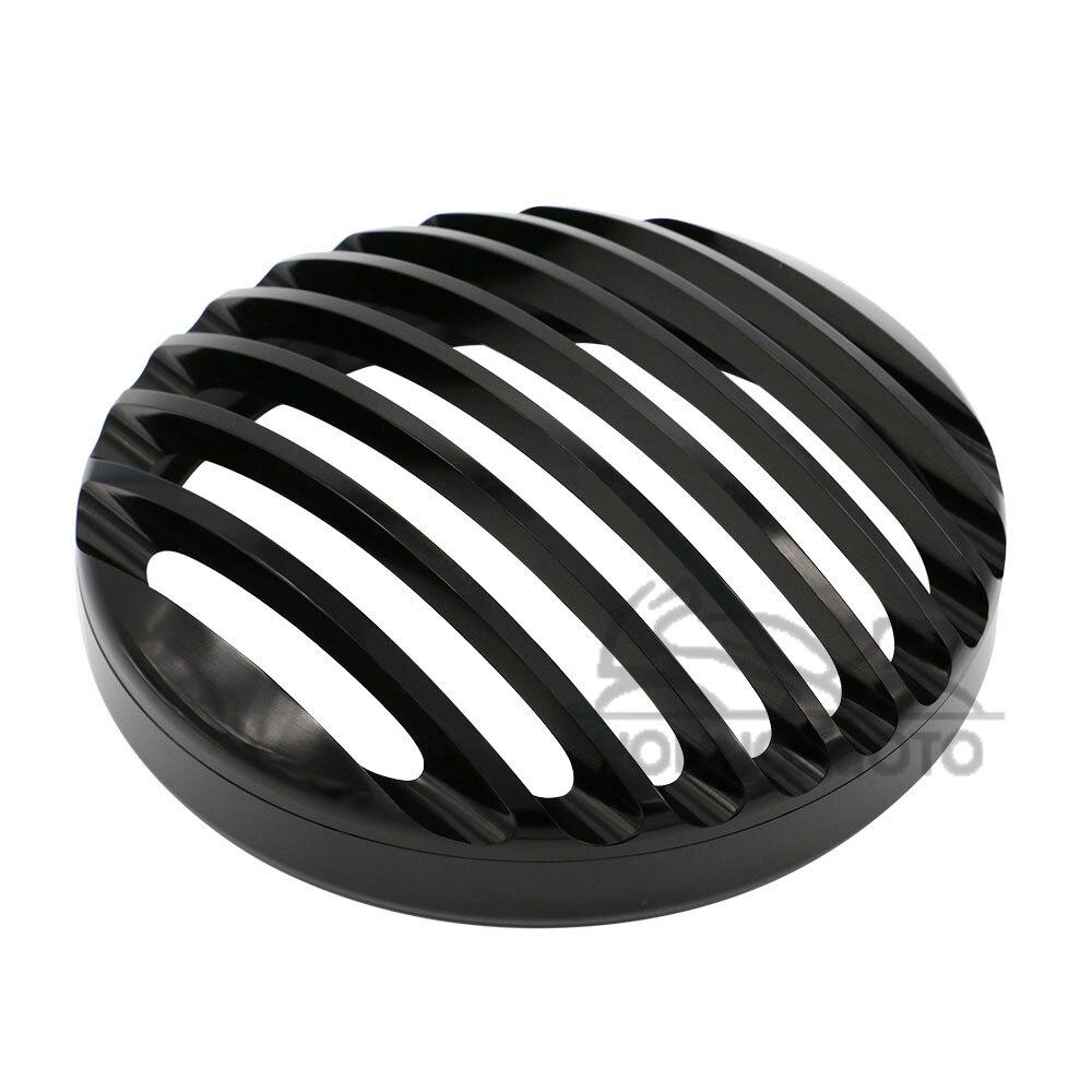 Black Round CNC Aluminum Headlight Grill Cover Guard for Harley Davidson Motorcycle Sportster XL 883 1200 2004-2014 matt black chin fairing front spoiler for harley davidson sportster 883 xl 1200 2004 2014