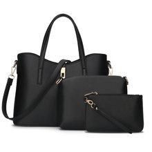 3 bolsas de mano de las señoras bolsos de mano fijaron para el verano Las Mujeres compuesto bolso de La Pu de Cuero Bolso Messenger Bags de Señora Día Del Embrague Bolsas