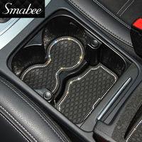 for VW POLO 6R 6C Anti Slip Rubber Cup Cushion Door Groove Mat Diamond Blinking for Volkswagen MK5 2011 2012 2013 2014 2015 2016
