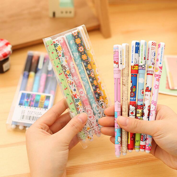 Various Designs Super Hero Hello Kitty Cartoon Gel Ink Pen Promotional Gift Stationery Papelaria