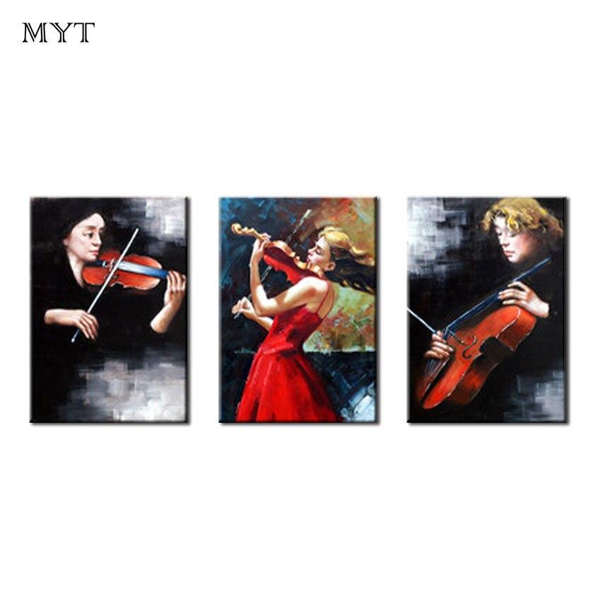 Art abstrait moderne danseur fille arbre pas de cadre mural peintures à l'huile sur toile 3 pièces décor à la maison mur Art photo pour salon