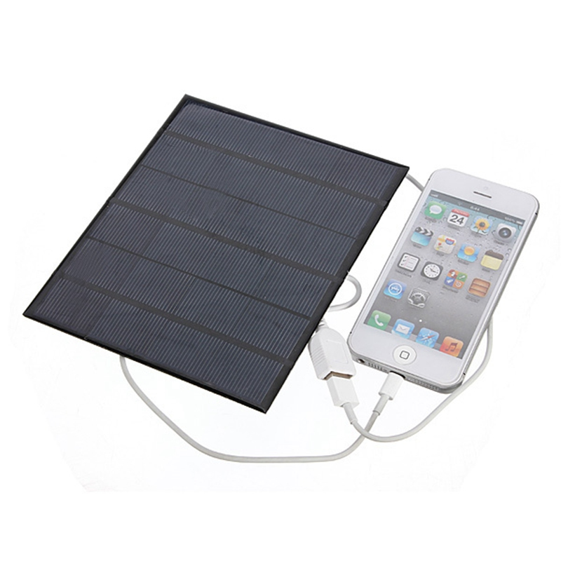 6V 3.5W 580-600MA Solar Panel Batteries USB 2.0 Solar Battery Phone Charger Universal Charging For Samsung Mobile Phones Tablet