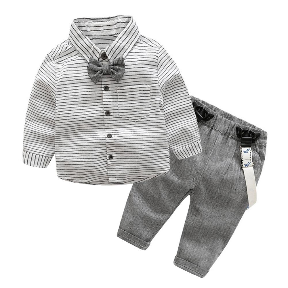 2pcs Toddler Kids Clothing Set Baby Boys Gentlemen Bowknot Shirt + Suspender Pants Outfit Boys Fashion Clothes AO#P ремни lee ремень gentlemen
