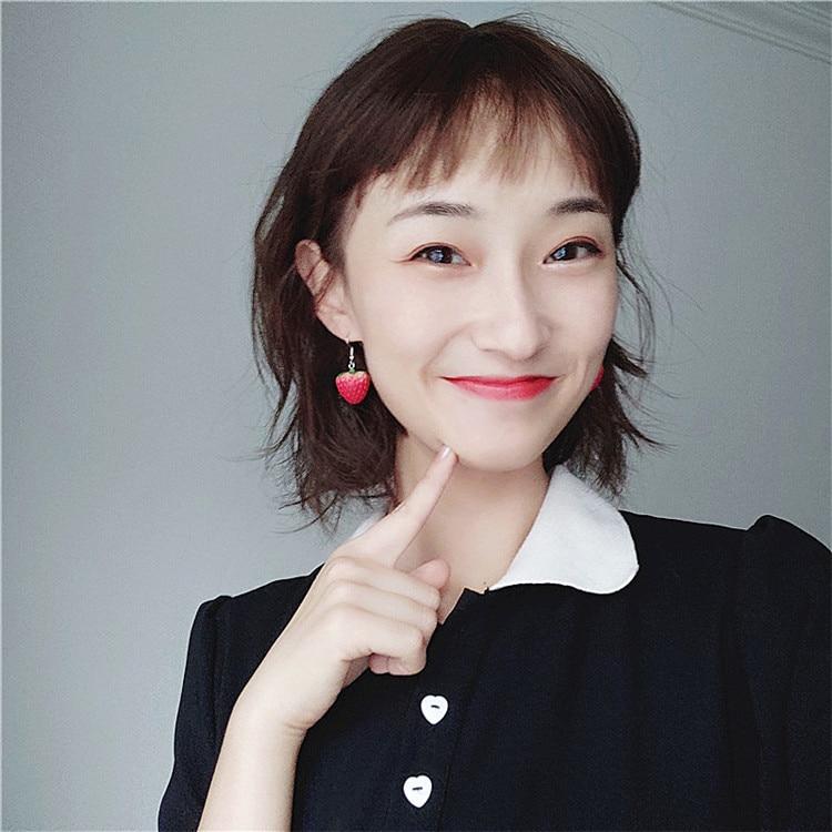 strawberry dangle earring