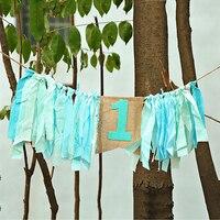 HAOCHU 1pc Baby Highchair Buntings Rag Tied Garlands Pennant Flag Wedding Kids Boy Girl Birthday Home