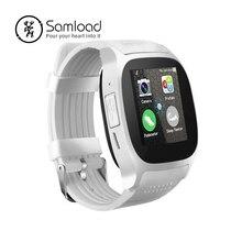 Samload T8 Banda Bluetooth Relógio Inteligente SIM Suporte câmera TF Cartão de Localização LBS com 0.3MP Esporte smartwatch Relógio de Pulso para Android