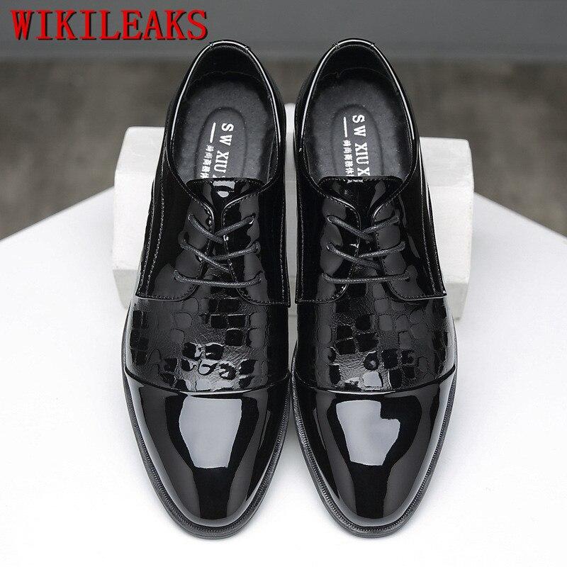 2019 Männer Formale Schuhe Spitz Business Hochzeit Patent Leder Croco Oxford Schuhe Für Männer Kleid Schuhe Sapato Social Masculino äSthetisches Aussehen Schuhe