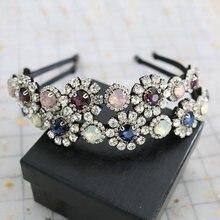 Новая модная Тиара с кристаллами и цветами корона драгоценным