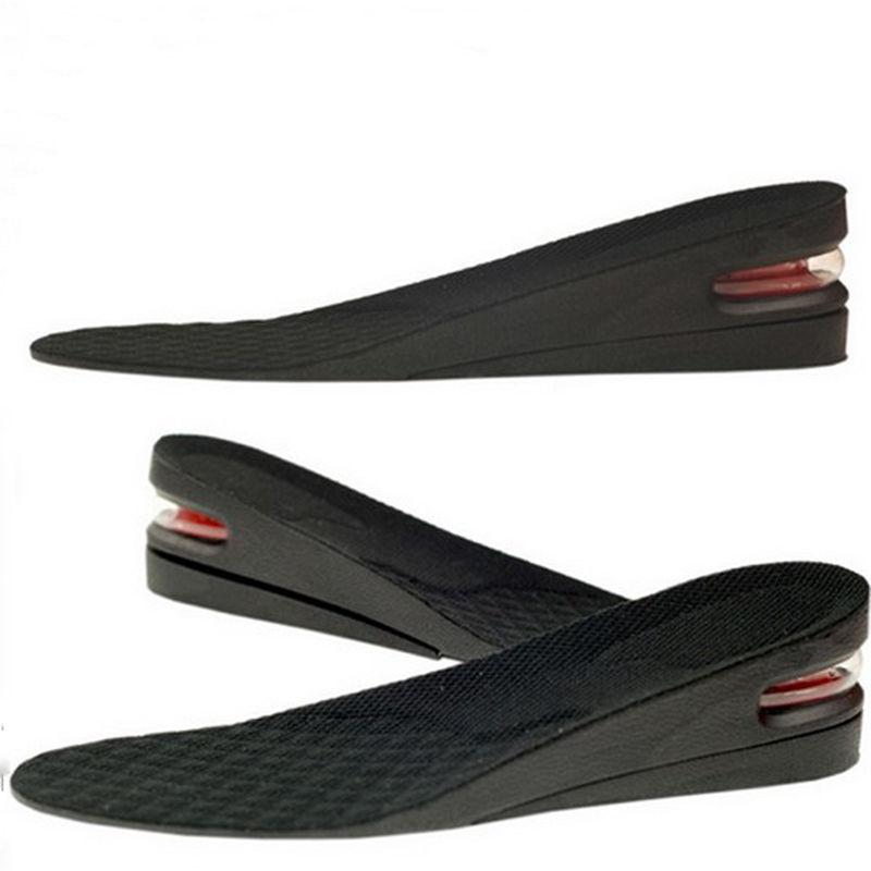 Hombre de silicona de plantilla del zapato de aire cojín talón deporte insertar aumentar más alto altura Lift 5 cm