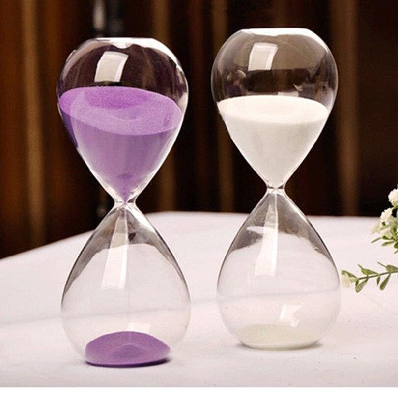 30 Minutes En Verre Transparent Sable Sablier Creative Sablier Minuterie Horloge Compte À Rebours Calendrier Cadeaux du Jour de Valentine Décor À La Maison