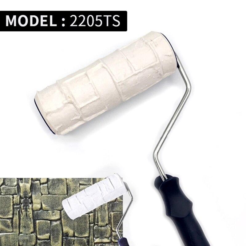 Купить с кэшбэком 5pcs Pattern Paint Roller Polyurethane Tool Environmental Protection Stamp Roller Decorative Cylinder Imitate Stone Rock Wood