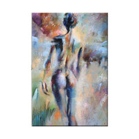 Artist Hand painted High Quality Modern Abstract Sexy Girl Oil Painting On Canvas Nude Sex Oil Painting For Wall Decoration5
