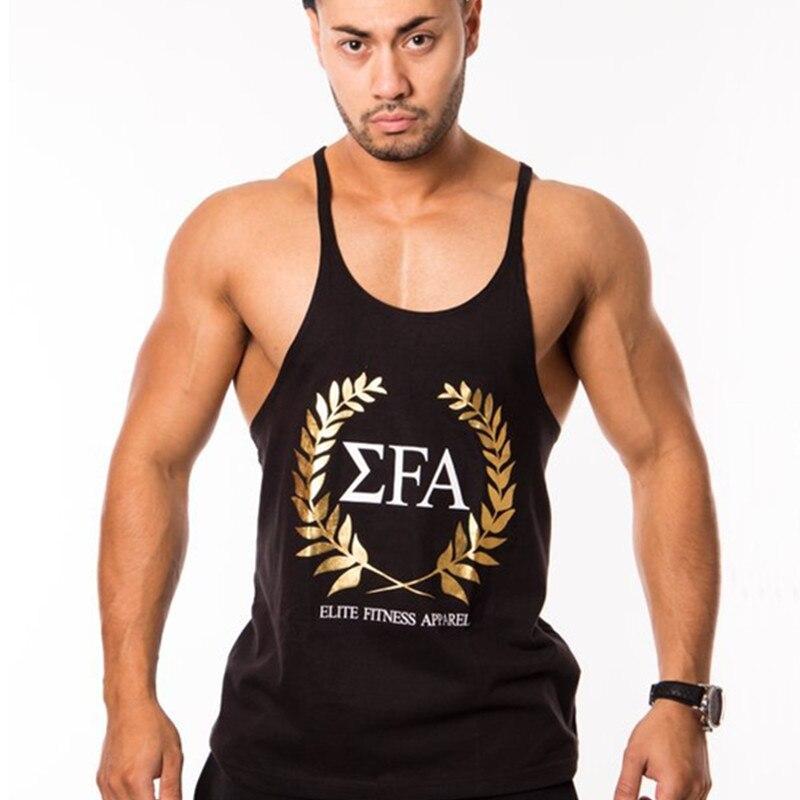 2018 Newest Brand powerhouse musculation Fitness Men Cotton Vest Men'   Tank     Tops   Plus Size M-XXL