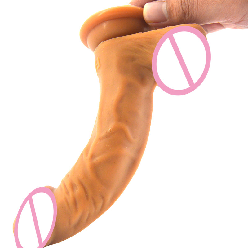 Super Soft Huge Dildo Suction Cup Anal Dildo Male Artificial Penis Large Flexible Dick Masturbator Sex Toys for Woman C3-1-96 howosex 26 8cm super huge dildo realistic large dildo g spot strong suction cup big penis flexible dick anal sex toy for woman