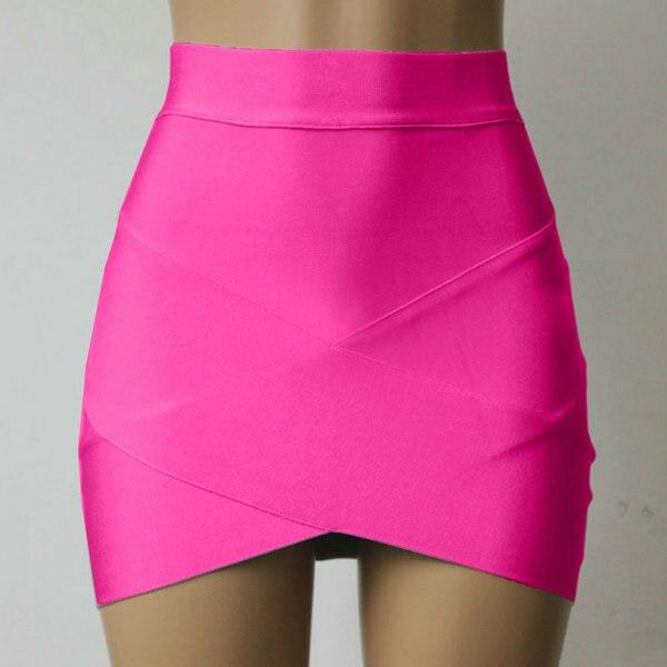 012340eec Falda de mujer niñas Mini faldas cruzadas irregulares dobladillo falda de  Color sólido ajustado ropa de mujer