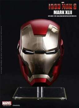 Superbohater Iron Man 1 1 Mark7 poręczny kask pełnowymiarowy replika maski do dekoracji imprez festiwalowych zabawki dla dorosłych najwyższa jakość tanie i dobre opinie Unisex Metal Kostiumy