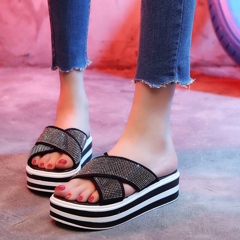 Phyanic 2018 New Slipper Sandal Women Riband Cross Strap -2435