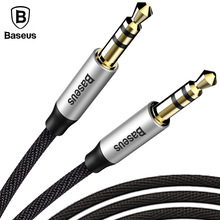 Baseus 3.5mm Jack Audio Cable Gold Plated Jack 3.5 mm Male to Male Cloth Audio Aux Cable For iPhone Car Headphone Beats Speaker