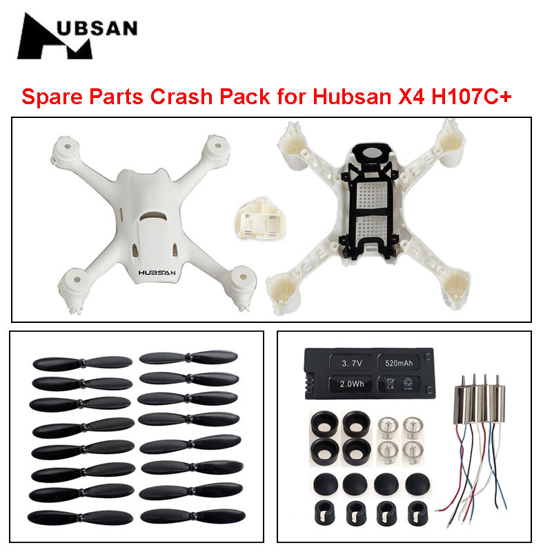 Free Shipping Spare Parts Crash Pack for Hubsan X4 Plus H107C FPV RC Quadcopter Helicopter