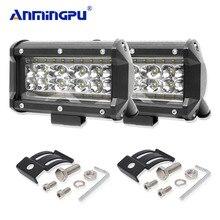 цена на ANMINGPU 4-Row 5inch 168W Spot LED Work Lights Offroad Light Bar Driving Led Fog light for Jeep Trucks Boat ATV 4x4 4WD 12V 24V
