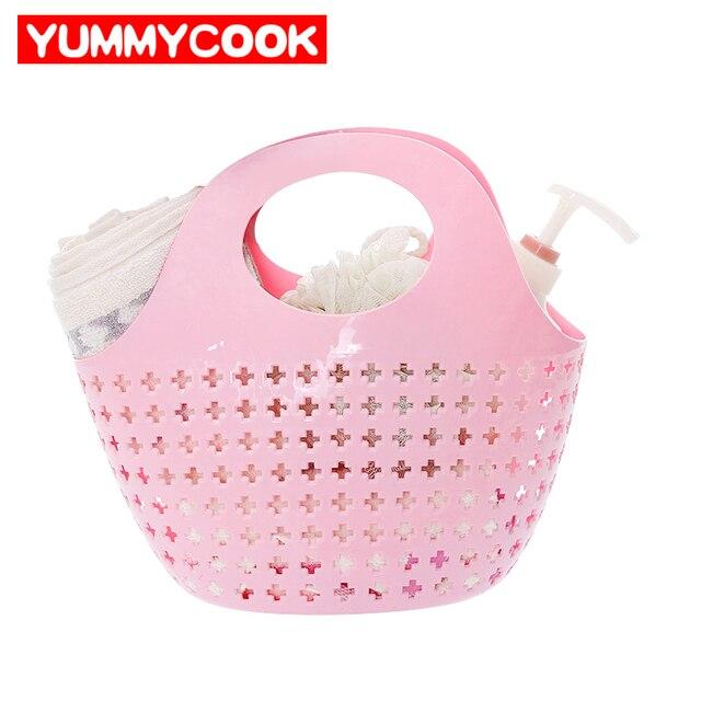 Bathroom Shower Baskets Vanilla Milk Bath Baskets Home Storage ...