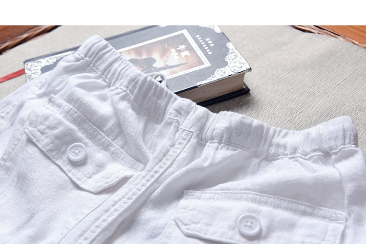 Spring And Summer Men Fashion Brand Chinese Style Cotton Linen Loose Pants Male Casual Simple Thin White Straight Pants Trousers