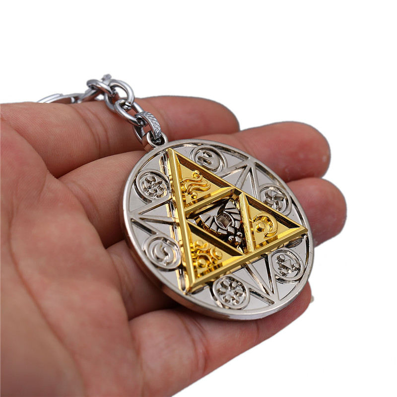 NEW Legend of Zelda Jewelry Keychain Matrix Model Game Breath of the Wild Key Ring Zelda Key Chains Souvenir Men Jewelry HC1230