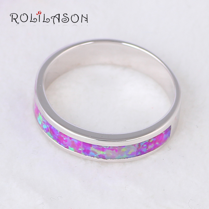Wholesale & Retail concise design Pink Fire Opal Silver Stamped Ring USA Sz #7 #8 #7.5 Fashion Jewelry OR764