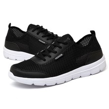 Plus Size 35-48 Breathable Mesh Running Shoes For Men Women Lightweight Walking Sports Shoes Lace-up Casual Shoes Lover Sneakers