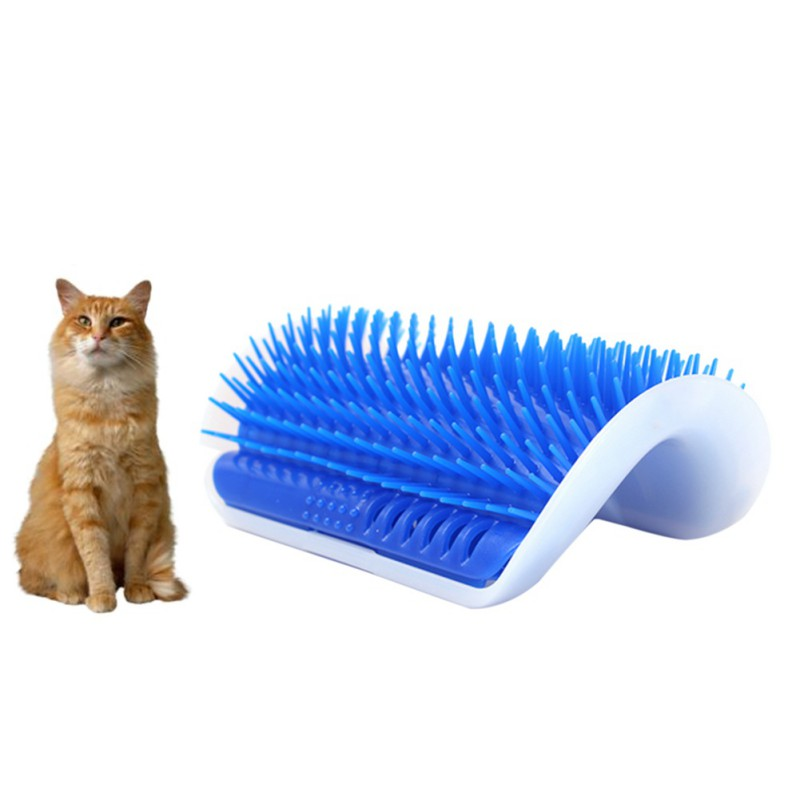 Lovely Pet Products Cats Supplies Cat Massage Device Self Groomer With Catnip Pet Toy For Cat Brush Comb